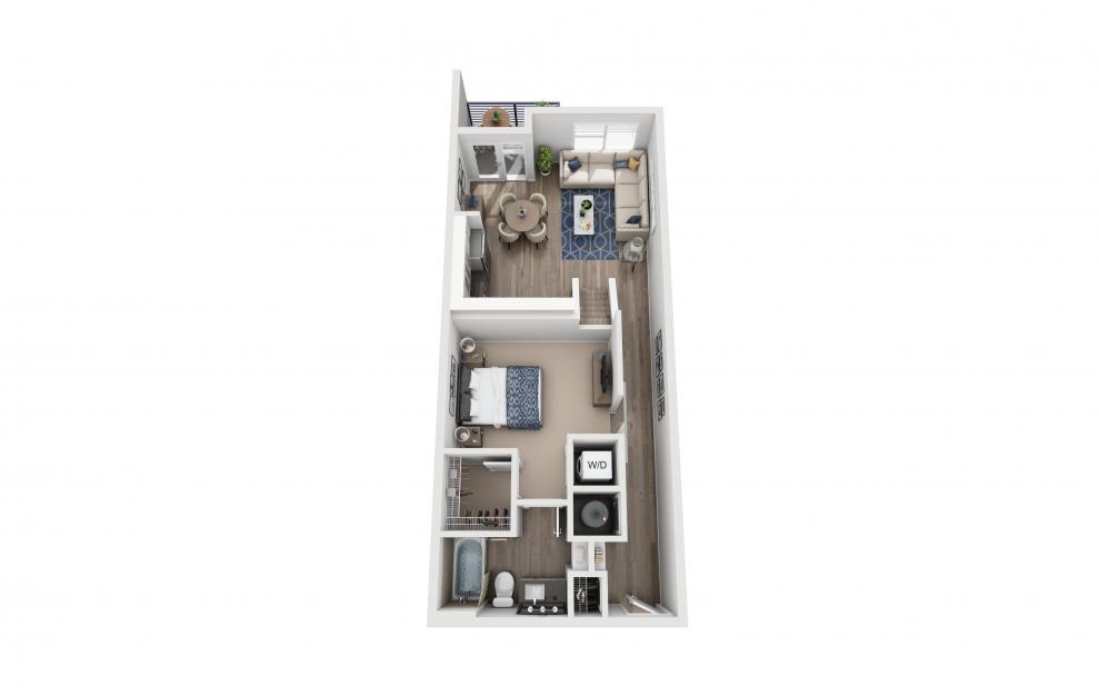 S10L - Studio floorplan layout with 1 bath and 969 square feet. (Floor 1)