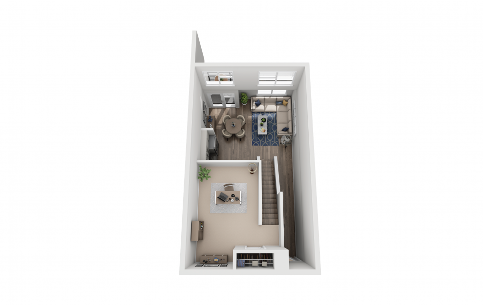 S10L - Studio floorplan layout with 1 bath and 969 square feet. (Floor 2)