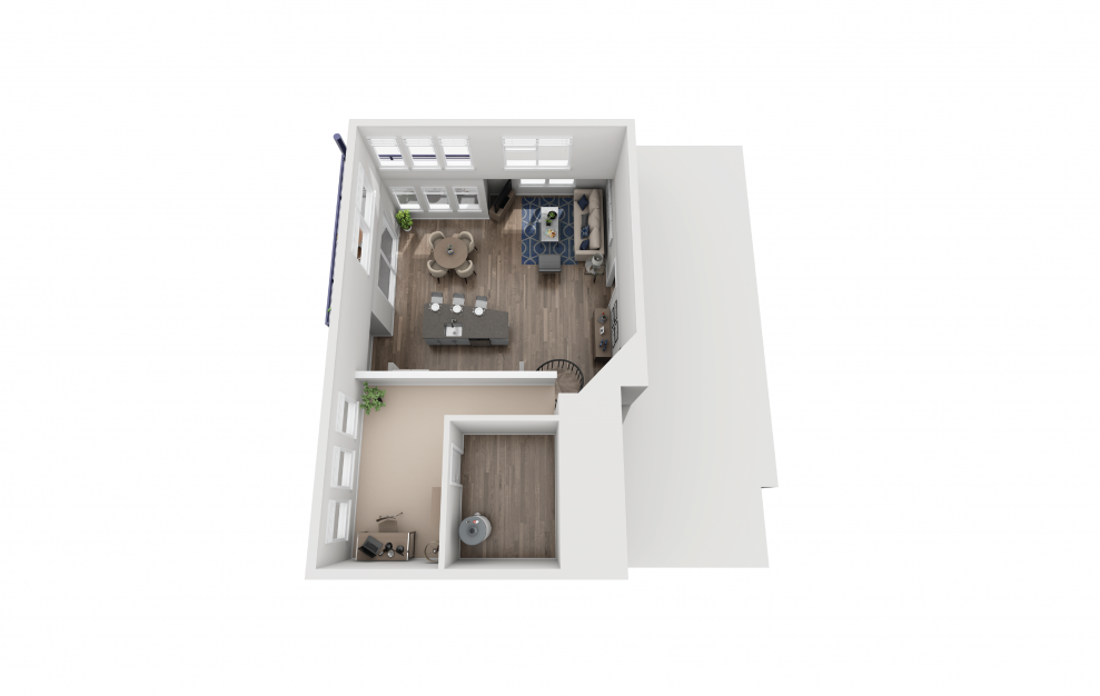 B8L - 2 bedroom floorplan layout with 2 baths and 1464 square feet. (Floor 2)
