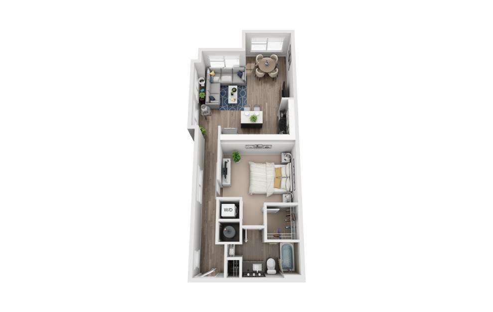 S9 - Studio floorplan layout with 1 bath and 802 square feet.